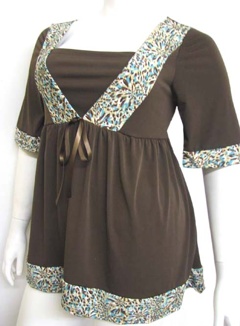 Autumn Brown Princess Plus Size Top :  trendy plus size fashions plus size clothing kathys curvy corner stylish plus size