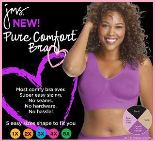 Bra - Just My Size Pure Comfort Seamless Wirefree by JMS